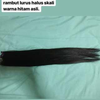 Rambut 100% Real Human Hair Extension