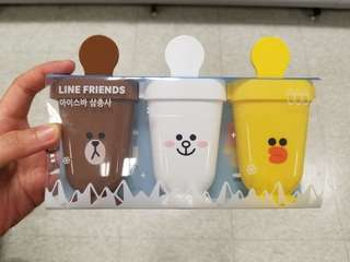 LINE FRIENDS 雪條架 一套三支