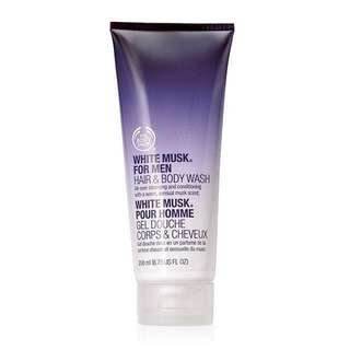 The Body Shop White Musk Sport For Men Hair & Body Wash (200ml)