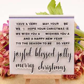 Christmas Greetings Clear Planner Stamp