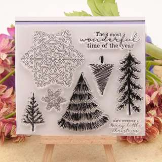 Christmas Clear Planner Stamp