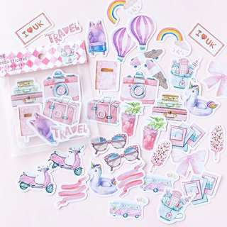 [Mo.Deco] Pink Travel Stickers