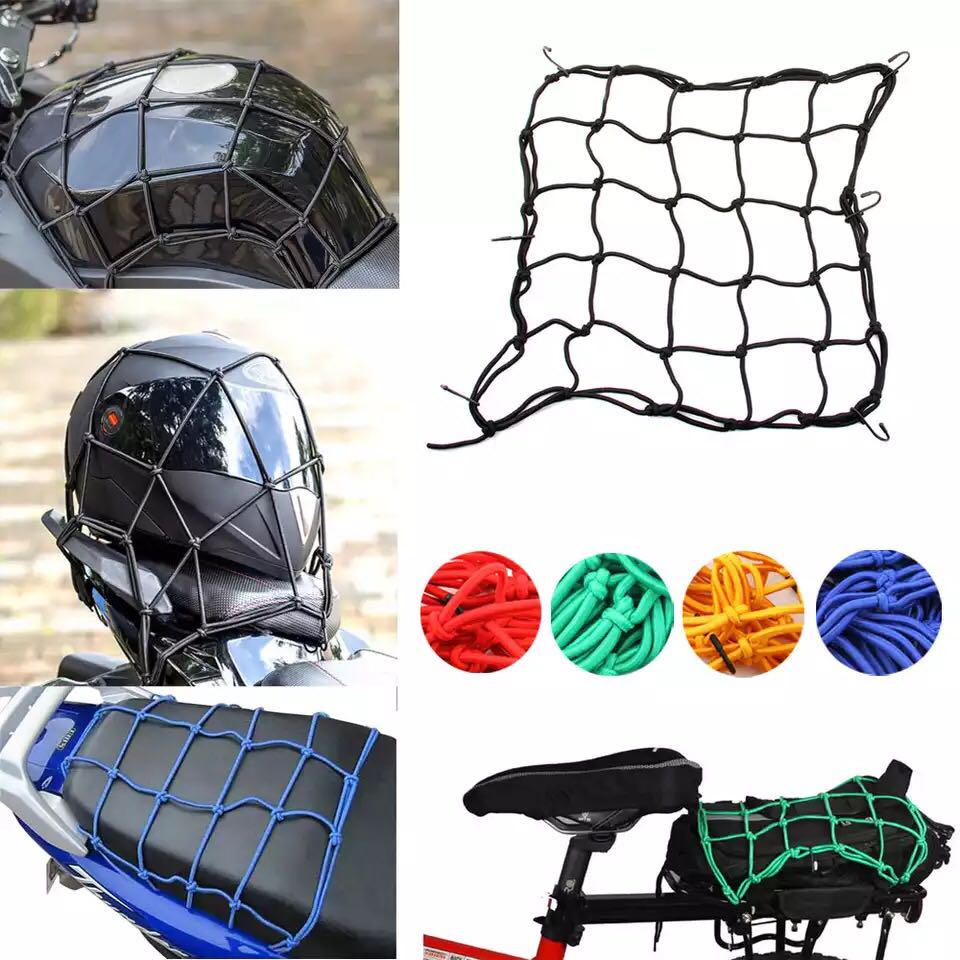 Motorcycle Rope Motorcycle Luggage Net With Hook Clamping Net Mopeds And Quad Bikes Elastic Luggage Strap Suitable For All Motorcycles Scooters