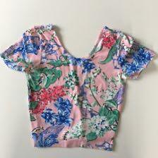 American Apparel Pink Floral Crop Top