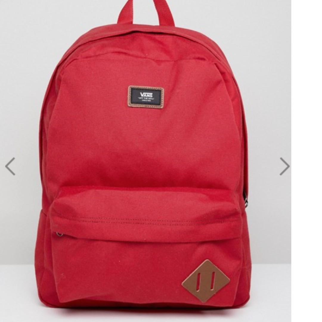 559248c182f Authentic Vans Old Skool II Backpack In Red, Men's Fashion, Bags ...