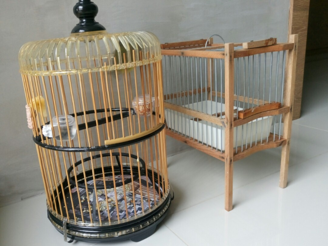 Balacca Cage and Bathing Cage, Pet Supplies, For Birds, Cages on ...