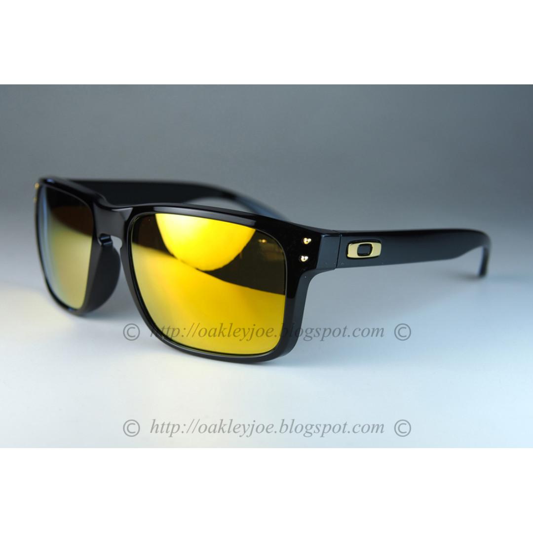d14c86046f9 BNIB Oakley Holbrook Asian Fit polished black + 24k iridium oo9244 ...