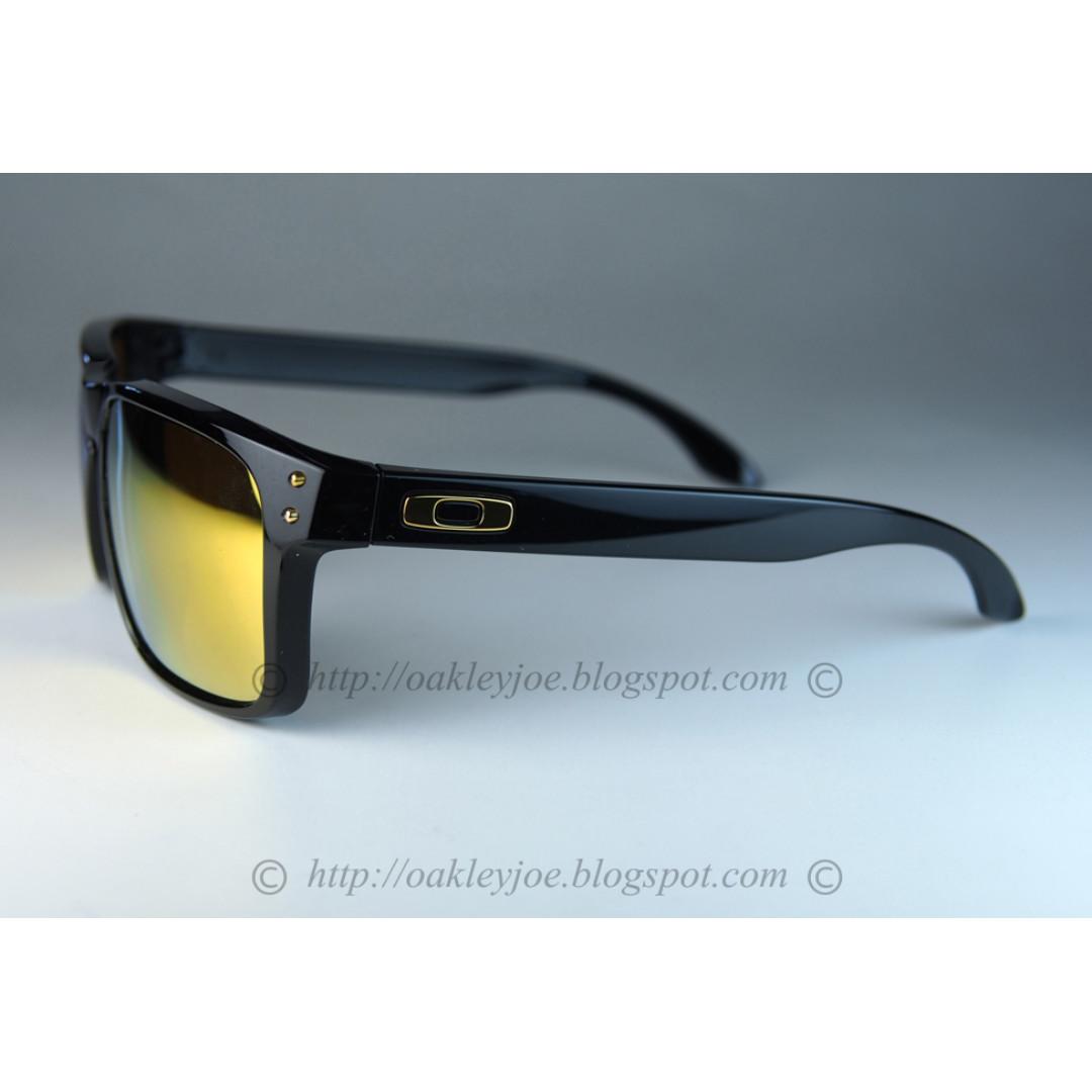 d120547f61a BNIB Oakley Holbrook Asian Fit polished black + 24k iridium oo9244-20  sunglass shades