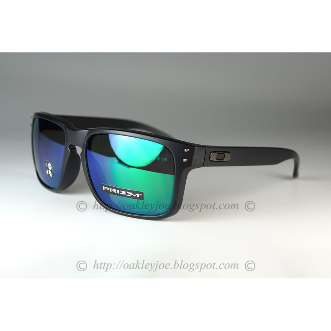40eb1877bb BNIB Oakley Holbrook Asian Fit matte black ink + prizm jade OO9244 ...