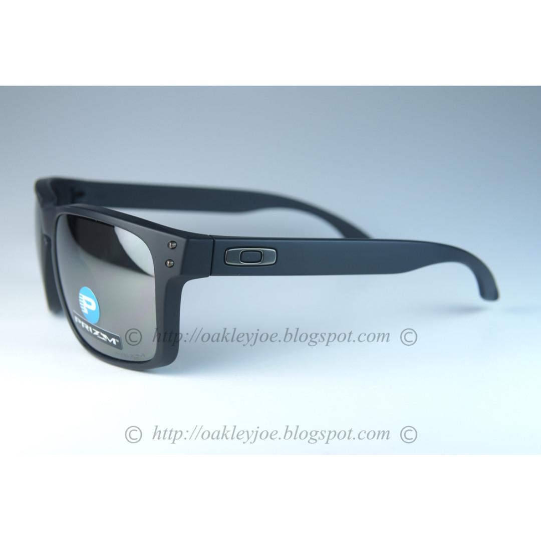 f8e32d3aeb BNIB Oakley Holbrook matte black + black iridium prizm polarized ...