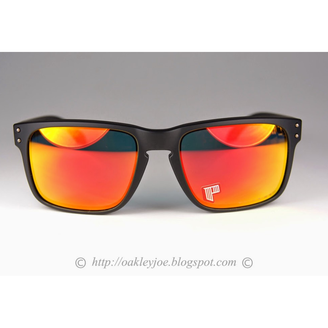 cfc8824697f BNIB Oakley Holbrook matte black + ruby iridium polarized oo9102-51 sunglass  shades