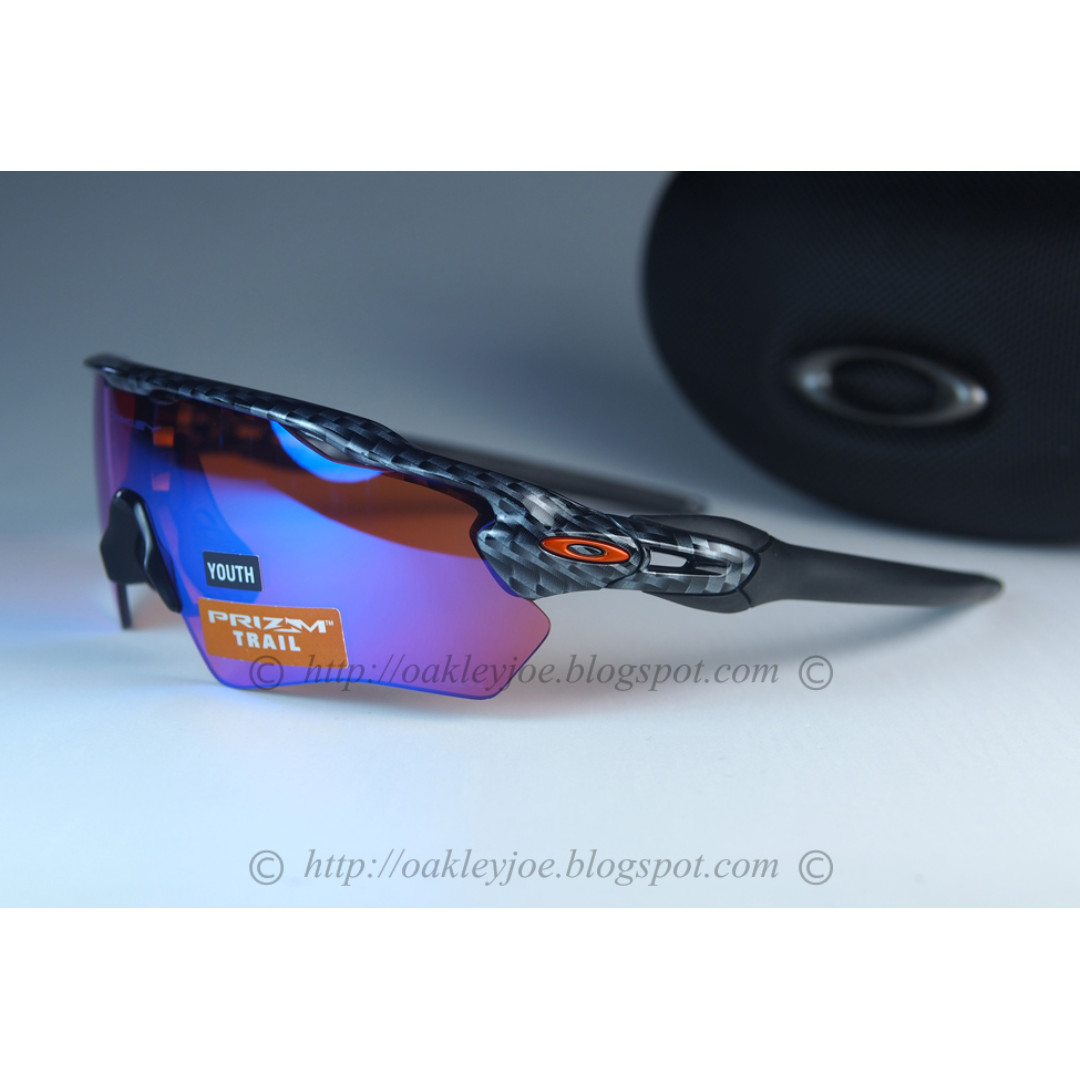 226c5347cb BNIB Oakley Radar EV XS Path Youth Fit carbon + prizm trail OJ9001 ...