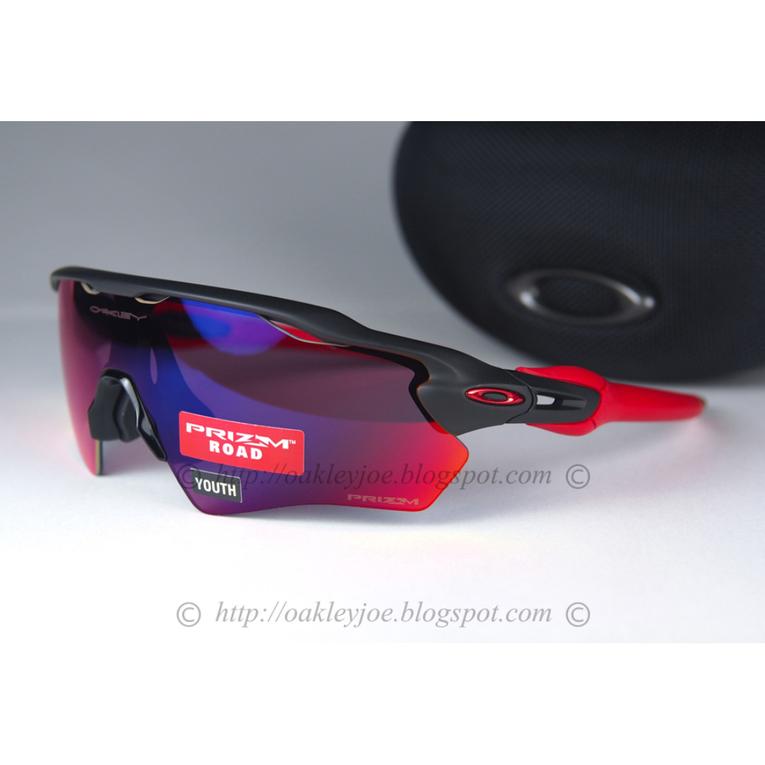 df72d215e87d1 BNIB Oakley Radar EV XS Path Youth Fit matte black + prizm road ...