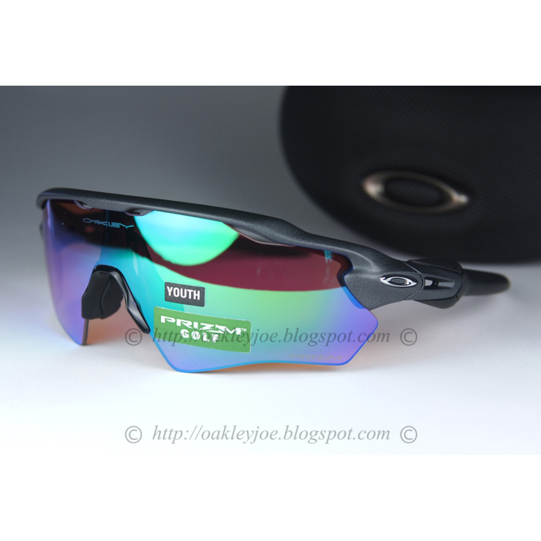 2d7780047d BNIB Oakley Radar EV XS Path Youth Fit steel + prizm golf OJ9001 ...