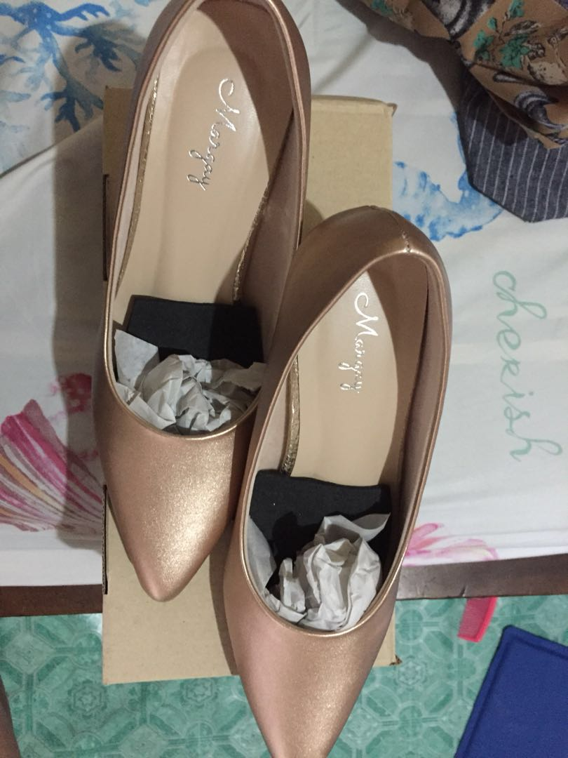 Bronze Heels (only used once for party, in very good condition) orig price ₱899