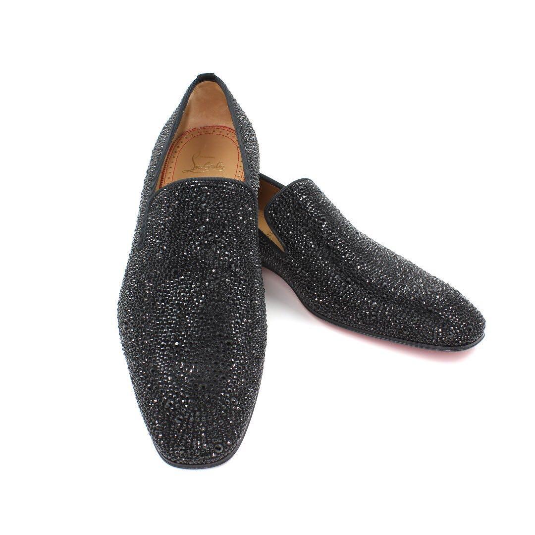 cheap for discount 233a8 30892 Christian Louboutin Dandelion Strass Flat, Men's Fashion ...