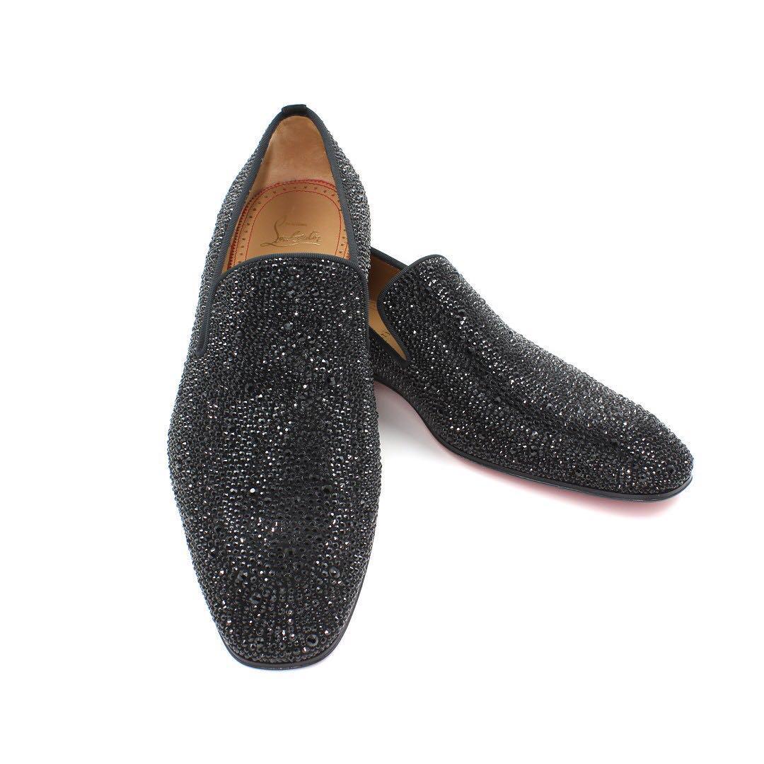 cheap for discount 67c51 110b6 Christian Louboutin Dandelion Strass Flat, Men's Fashion ...