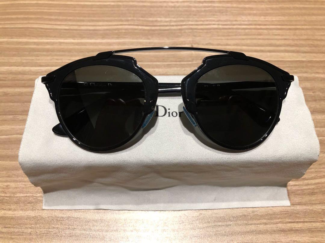 4c53fb101a14 Dior So Real Sunglasses Black, Women's Fashion, Accessories, Eyewear ...