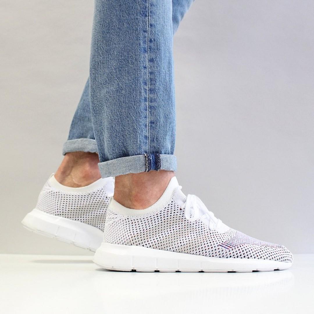 sports shoes db584 72c9c (FLASH SALE) ADIDAS ORIGINALS SWIFT RUN PRIMEKNIT SHOES – FOOTWEAR  WHITE/GREY ONE/MEDIUM GREY HEATHER