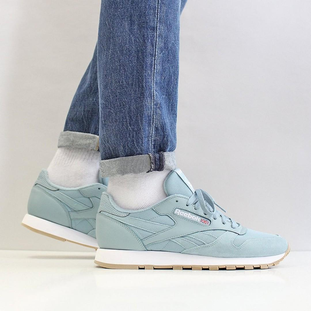 reputable site 31111 31cbe FLASH SALE) REEBOK CLASSIC LEATHER MU SHOES – WHISPER TEAL ...