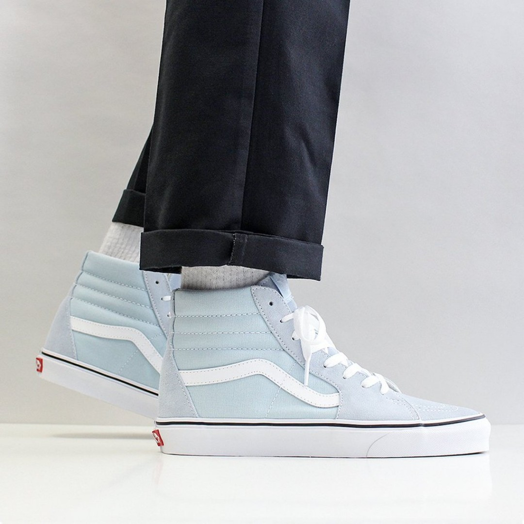 79a9dce387 FLASH SALE) VANS SK8-HI SHOES – BABY BLUE TRUE WHITE