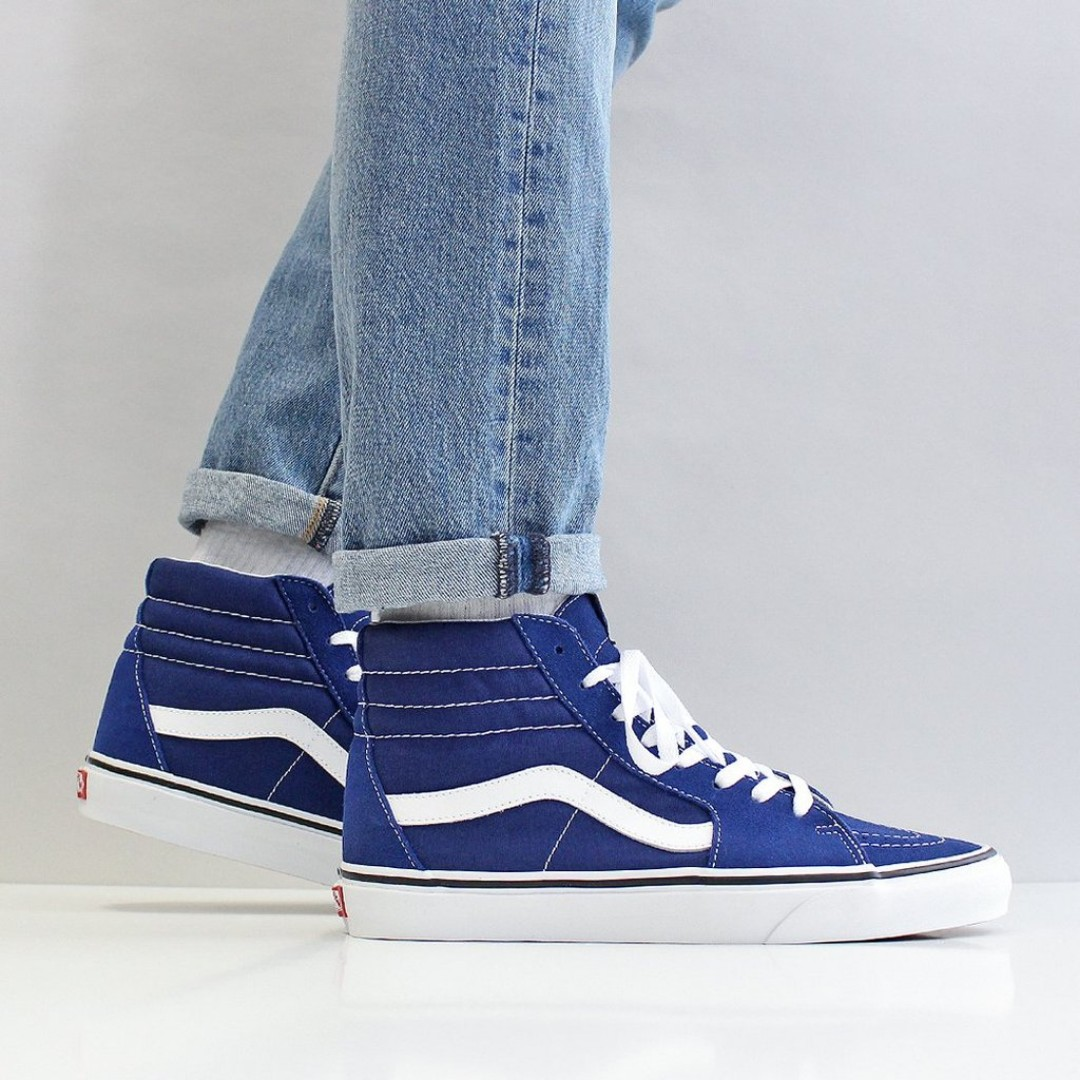 610432ef6293f2 FLASH SALE) VANS SK8-HI SHOES – ESTATE BLUE TRUE WHITE