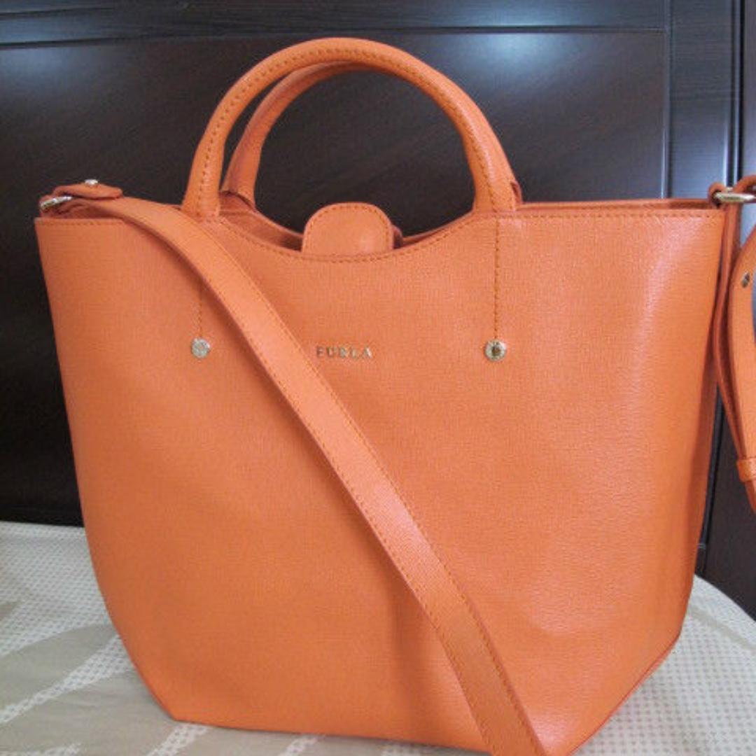 Furla Leather Alissa Tote Orange Bag Nramd New Authentic Women S Fashion Bags Wallets On Carou