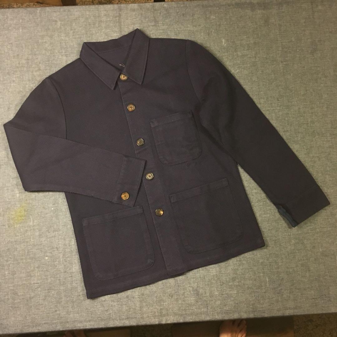 0885cb78dc0023 Indigo-Dyed Sashiko Work Shirt-Jacket  New w tags