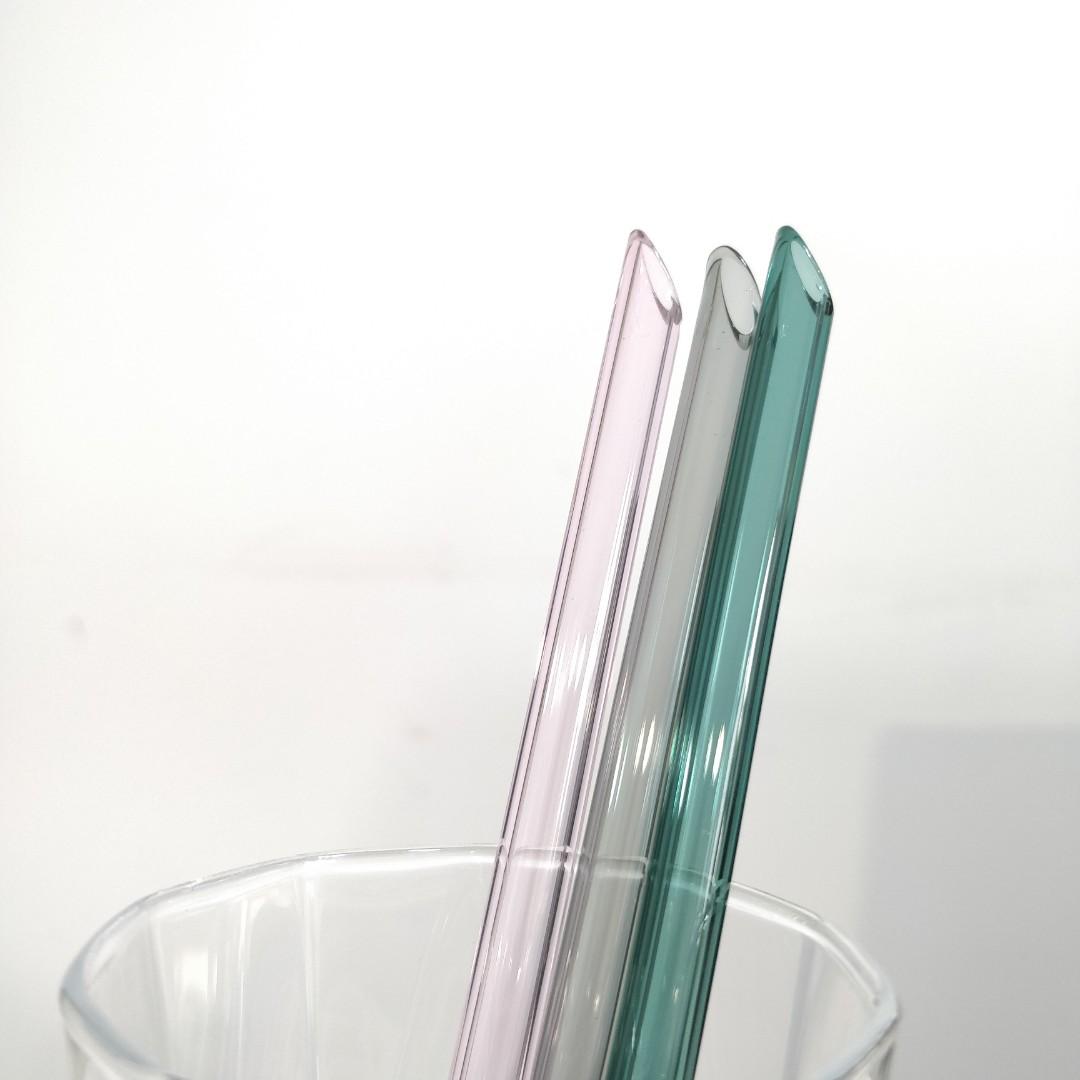 [INSTOCK] Angled Cut Glass Straws