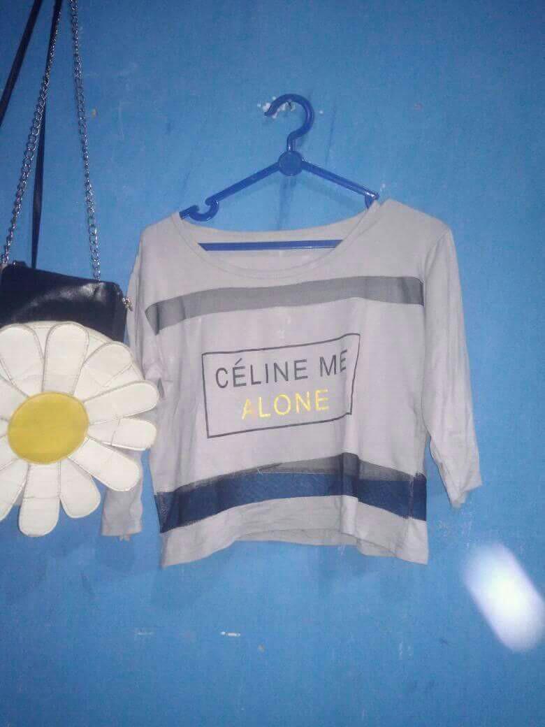 Kaos crop Celine