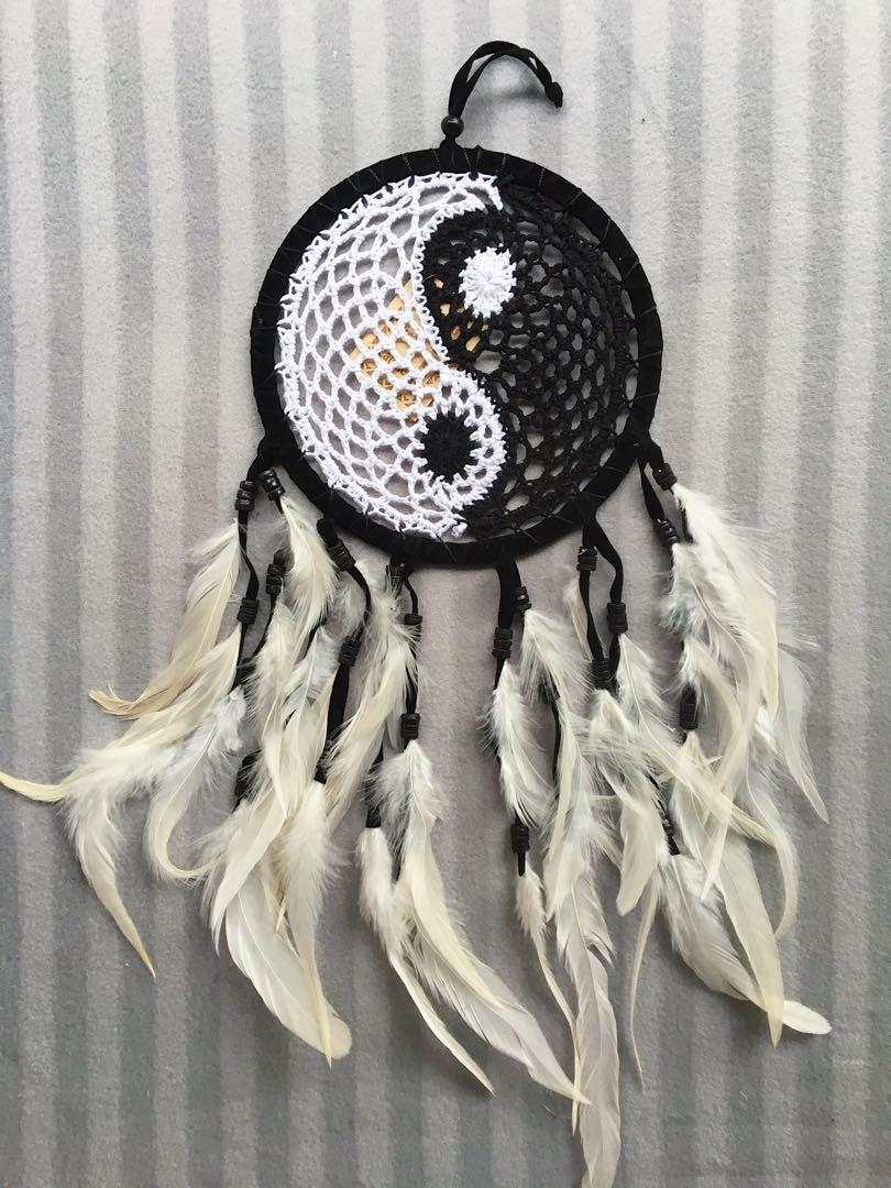 Large Yinyang Handmade Dream Catcher Design Craft Handmade