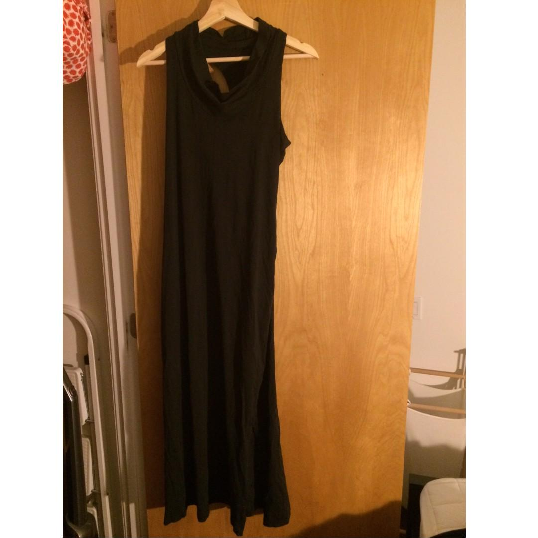 Long dress (built-in bra) - size S