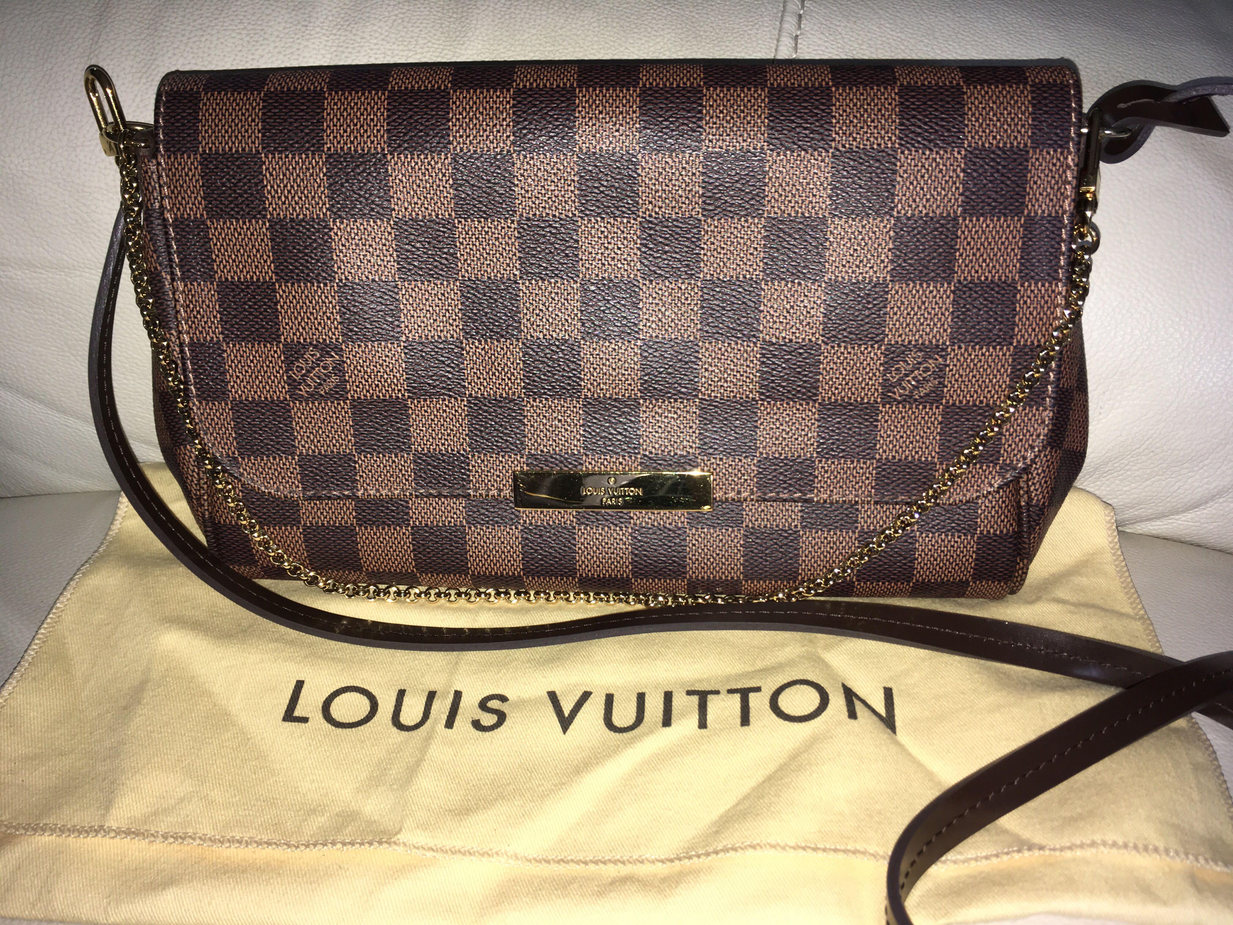 935bb3a2 Louis Vuitton Favorite MM, Monogram Canvas, Luxury, Bags & Wallets ...