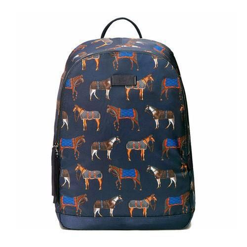 New Gucci Horse-Print Backpack (Navy) 64cd5106b3307