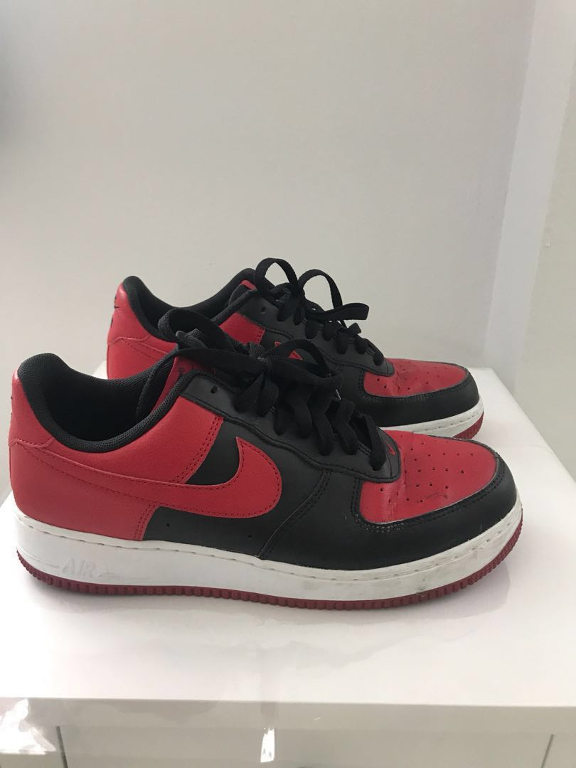 Nike Air Force 1 low bred   black gym red 0dedcce0a