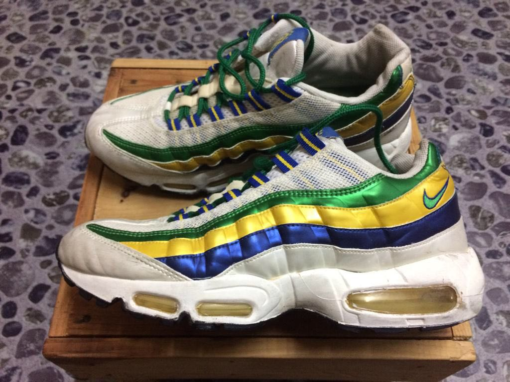 first rate 63dcb 8e245 NIKE AIR MAX 95 BRAZIL WORLD CUP., Mens Fashion, Footwear on