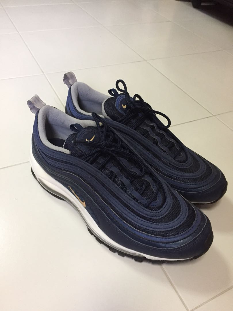 b7090e861c Nike Air Max 97 Midnight Navy US10, Men's Fashion, Footwear, Sneakers on  Carousell