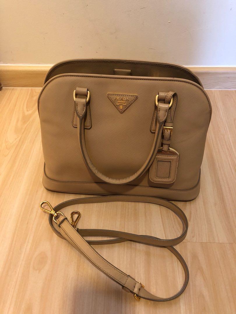 cbae880957daab Prada Saffiano Alma with Strap, Luxury, Bags & Wallets, Handbags on ...