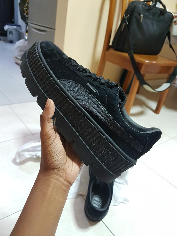 promo code 1ecd0 3c54c Puma x Fenty by Rihanna Cleated Creepers Suede Black ...