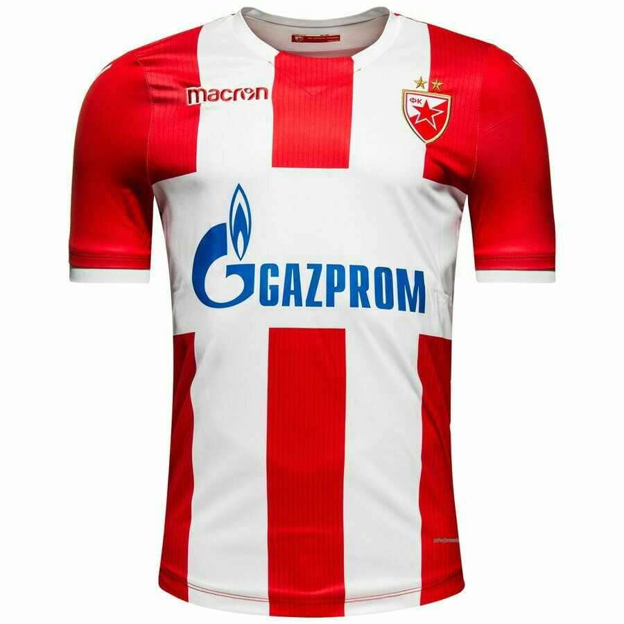 e7b863ac6 Red Star Belgrade Authentic (Player Version) Home 17 18 Jersey ...