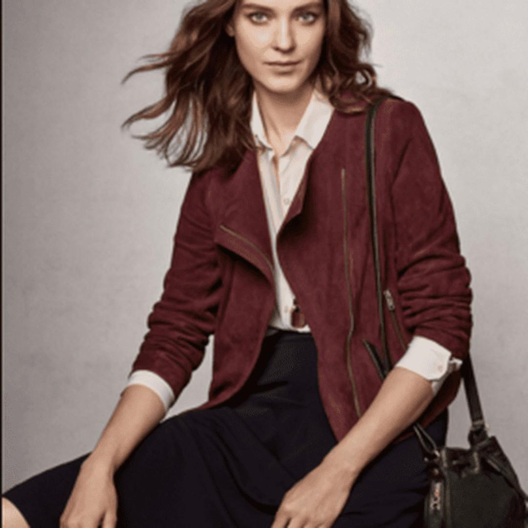 Red Suede Anne Taylor Jacket (Small)