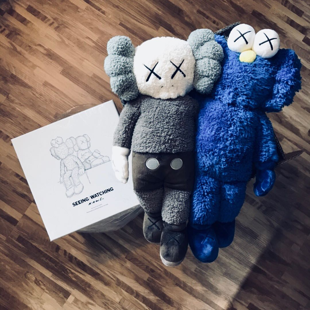 RETAIL KAWS SEEINGWATCHING Limited Edition Plush Toys - Free invoicing tool kaws online store