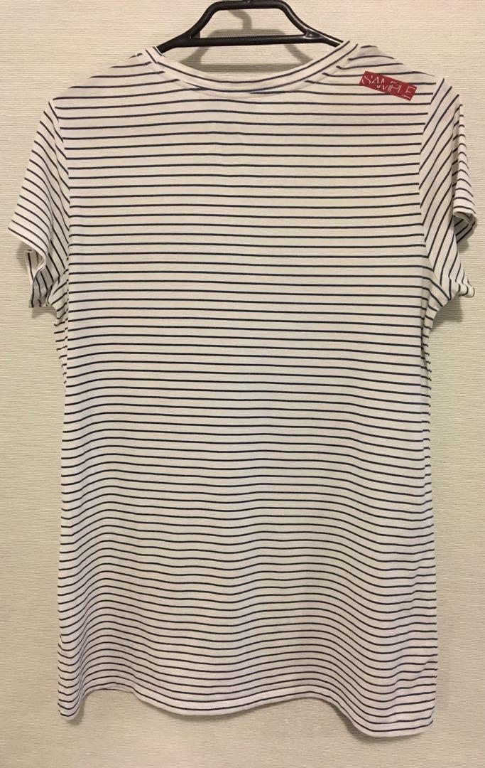 Sample Label Striped Tee Relaxed Fit Embroidered