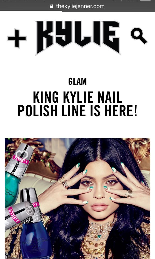 Sinful Colors x Kylie Jenner in Angel Nail Polish, Preloved Health ...