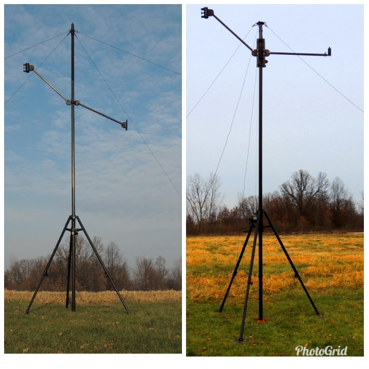 Tripod Am2 ( aluminium man-portable tripod mast), Looking