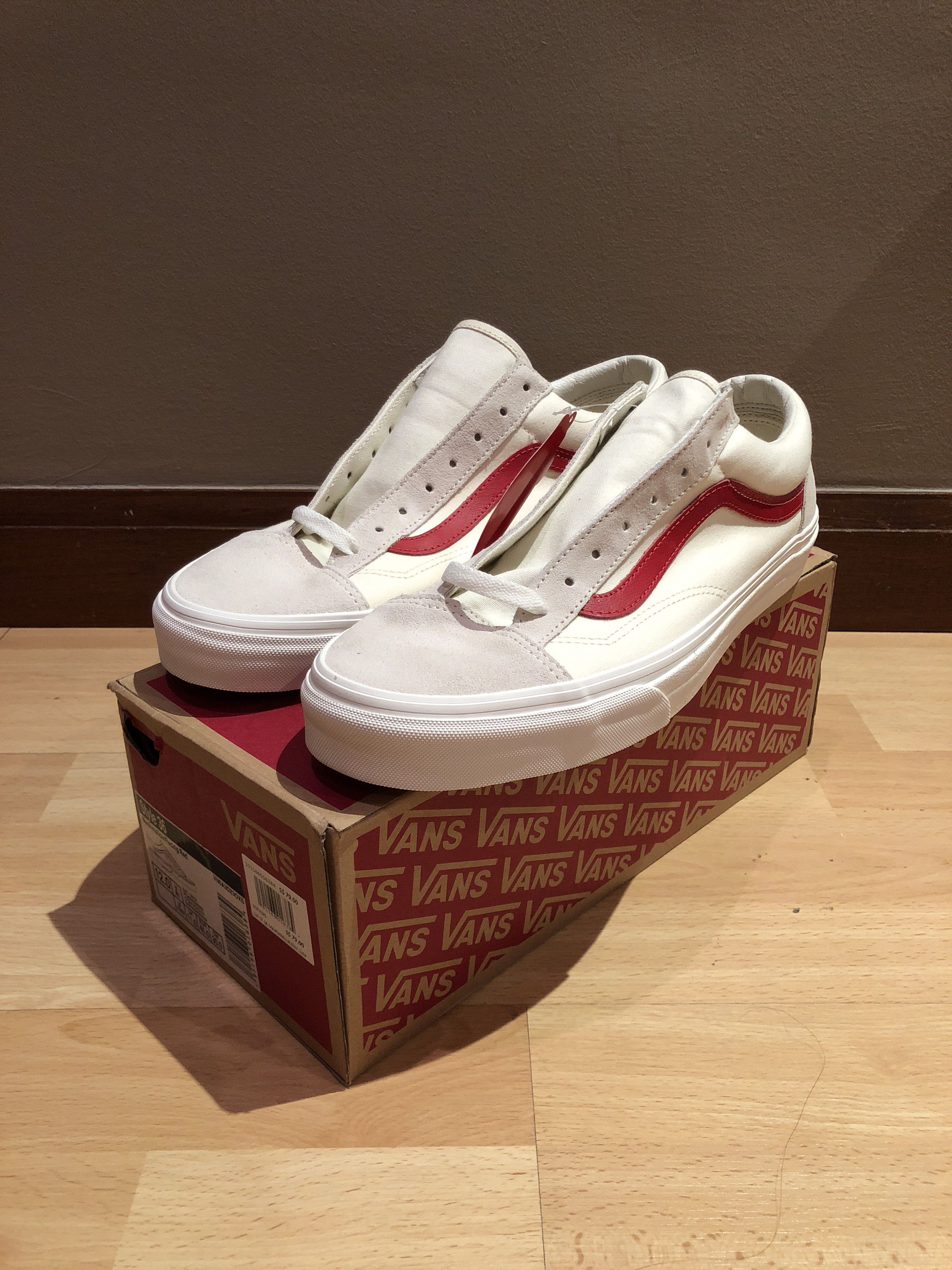 d3f5dc802d Vans Style 36 Marshmallow Racing Red