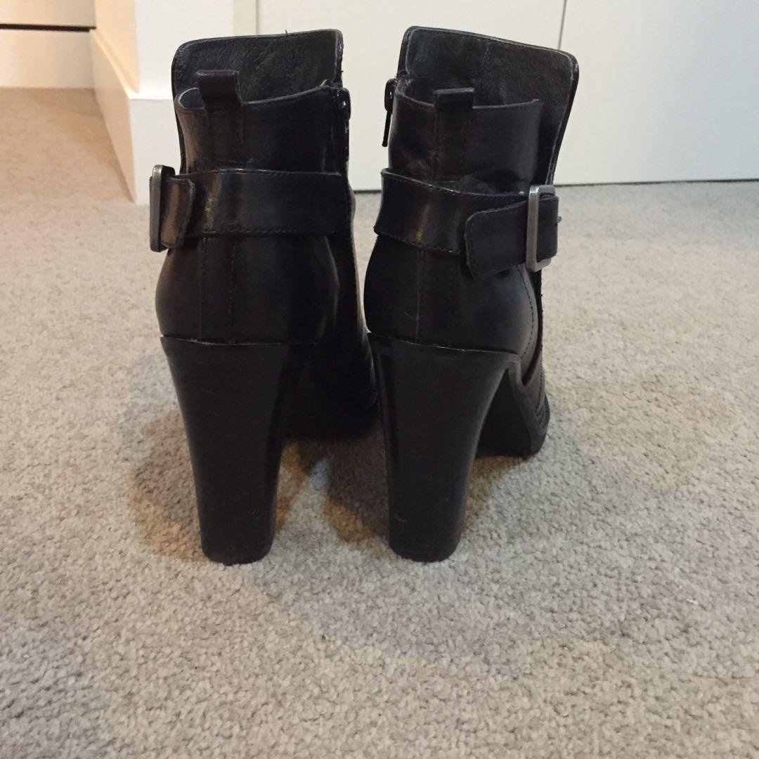 Wittner Genuine Black Leather Boots