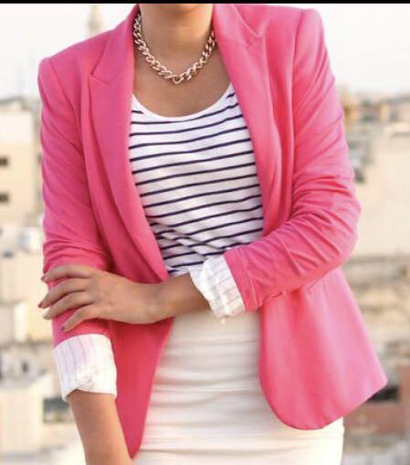 6e437cdc695 ZARA hot pink fuchsia jacket blazer