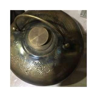 🚚 老物件 清末民初 銅壺 湯婆子