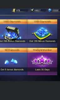 Pubg Mobile Credit and Mobile Legend Diamond